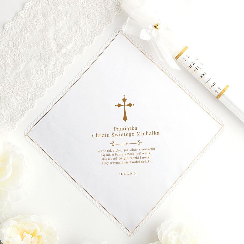 szatka do chrztu z imieniem