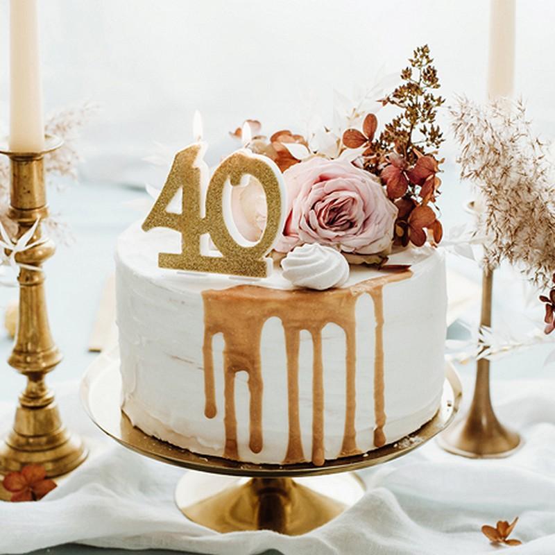 Świeczki na tort na 40 urodziny
