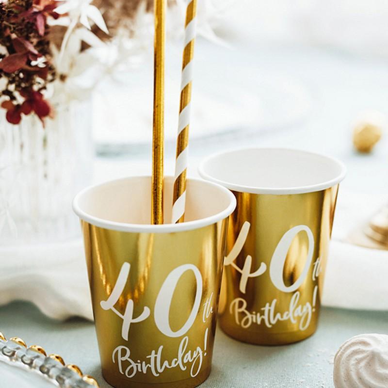 kubeczki na 40 urodziny