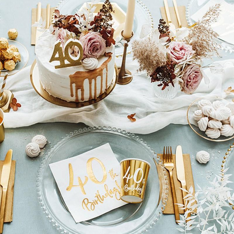Dekoracje stołu na 40 urodziny inne
