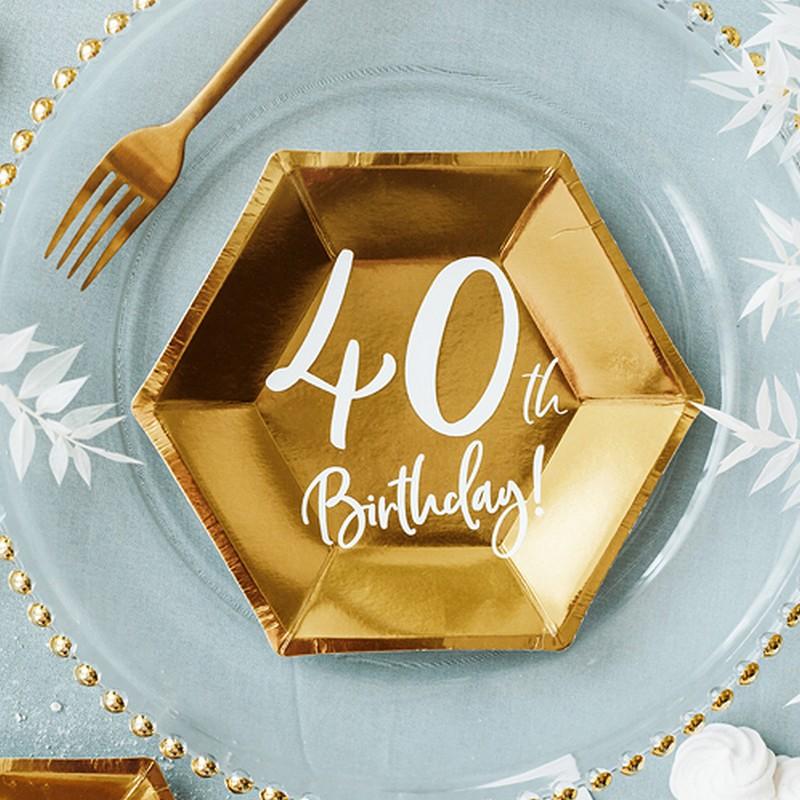 Talerzyki na 40 urodziny