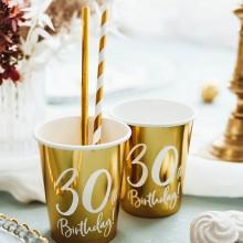 KUBECZKI na 30 urodziny Złote 6szt