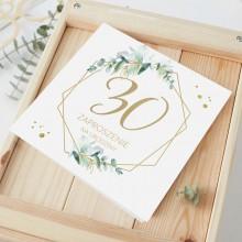 ZAPROSZENIA na 30 urodziny botaniczne Gałązka Eukaliptusa 10szt (+koperty)