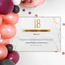 PREZENT na 18 Certyfikat Pełnoletności (+Antyrama)