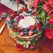 OPŁATEK na tort na 40 urodziny Boho Z IMIENIEM Ø20cm