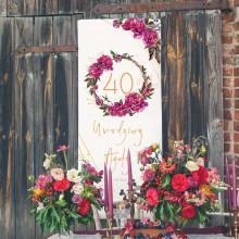 DEKORACJA sali na 40 urodziny +listwa 60x150cm Boho