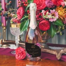 PREZENT na 40 urodziny Wino musujące Z IMIENIEM 750ml DUŻE Boho