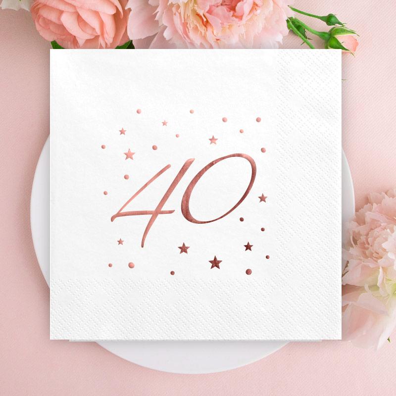 Serwetki na 40 urodziny