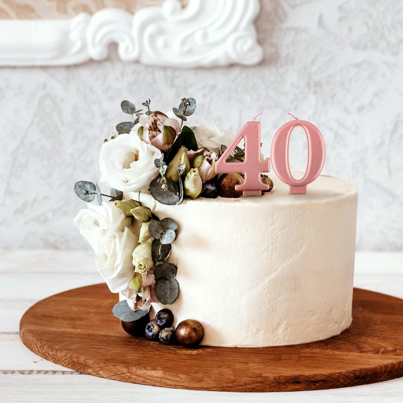 Tort na 40 urodziny dekoracje