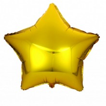 BALON foliowy Gwiazda 48cm ZŁOTY