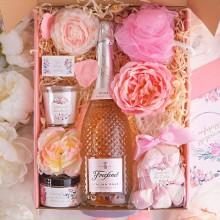 PREZENT na 18 urodziny Z IMIENIEM Wino kryształowe Róż MEGA LUX