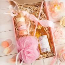 PREZENT na 30, 40 urodziny Box Z IMIENIEM Wino+makaroniki mydełka LUX