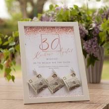 PREZENT na 30 urodziny w ramie Rosegold Confetti