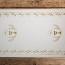 BIEŻNIK dekoracja stołu Komunia Kielich ZŁOTY 40cmx24m SUPER