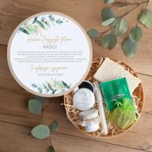 PREZENT na Baby Shower dla Mamy Box Z IMIENIEM Eukaliptusowe Odprężenie