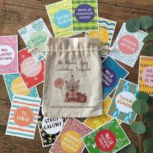 PREZENT na Baby Shower dla Mamy i dziecka Karteczki do zdjęć 32napisy