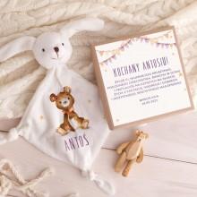 PREZENT na Baby Shower chłopca Przytulanka Z IMIENIEM w pudełku