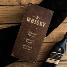SKRZYNIA na Whisky prezent dla Pana Młodego, Świadka BRĄZ