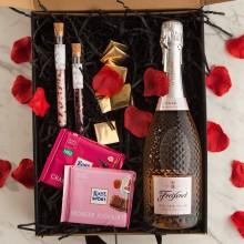 PREZENT na Ślub Z PODPISEM Wino kryształowe z czekoladą
