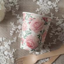 KUBECZKI na Roczek i urodzinki Róże Vintage 0,25l 10szt