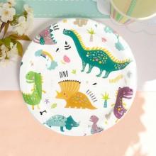 TALERZYKI papierowe na Roczek i Urodzinki Dinozaury 6szt