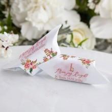 KRÓWKI na Roczek dziewczynki Rosegold Flowers Z IMIENIEM 20szt